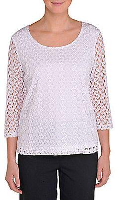 cd1322a446432d 9 Best Allison Daley crochet lace blouse images
