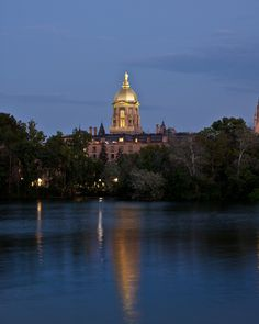 Golden Dome/ND...  I like walking around this lake...one of my favorite places in the world.