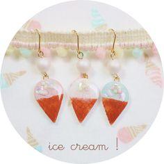 Ice cream earrings / earrings (WH)