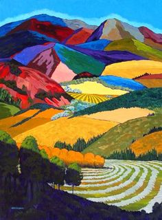 Gene Brown Through The Trees And Into The Valley - Southwest Gallery: Not Just Southwest Art.