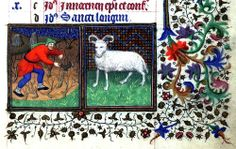 The Labours of the Months, March  Book of Hours Brotherton Collection MS 1 University of Leeds