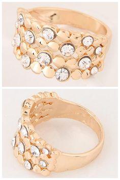 Starry Fashion Rhinestone Alloy Ring