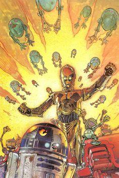 brianmichaelbendis:  Star Wars Droids: Rebellion art by Kilian Plunkett