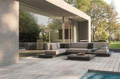 AIR Sectional sofa by MANUTTI design Koen Van Extergem, Stephane De Winter