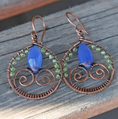 RESERVED for Karen oOo Oxidized Copper Chalcedony by AlaskaFirefly