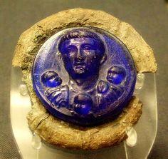 Roman-British glass phalera 1c
