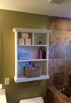 Bathroom Storage Cabinet by JRsCustomWoodwork on Etsy, $120.00