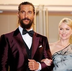 """mccconaughey: """"Matthew McConaughey and Naomi Watts at the Sea of Trees premiere at the Cannes Film Festival on May """" Naomi Watts, Matthew Mcconaughey, Cannes Film Festival, Trees, Actors, Sea, Inspiration, Biblical Inspiration, Tree Structure"""