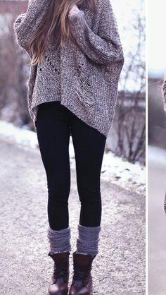 Sweater and leggings