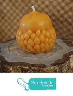 Beeswax Candle Acorn Shaped Candle from Peace Blossom Candles http://www.amazon.com/dp/B01C0QY0MA/ref=hnd_sw_r_pi_dp_zjehxb071328D #handmadeatamazon