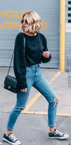 Trendy Spring Outfits For Street Style 03 Hot Summer Outfits, Fall Outfits 2018, Paris Outfits, Fall Fashion Outfits, Teen Fashion, Spring Outfits, Trendy Outfits, Autumn Fashion, Fashion Trends