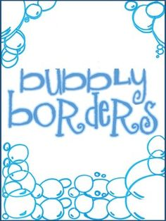 Enjoy these 10  FREE Bubble Borders for your personal/commercial teaching products! Please be sure to give credit back to http://www.teacherspayteachers.com/Store/Number-Two-Pencils. Find out about special sales and give aways by following our store or by liking us on Facebook https://www.facebook.com/pages/Number-Two-Pencils-LLC/187282014751562  This work is licensed under a Creative Commons Attribution 3.0 Unported License.