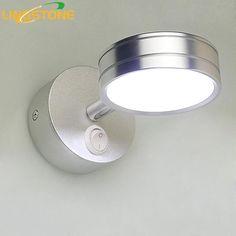 Led Wall Lamp Mini Mirror Light Sconce Wandlamp Up Down Lamparas De Pared Applique Murale Luminaire Moderne Stair Bedroom Lights
