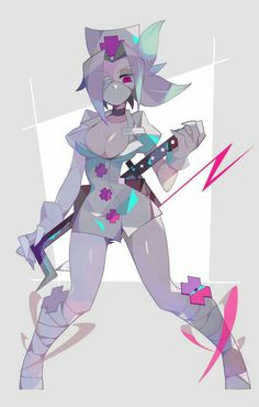 Fantasy Characters, Female Characters, Anime Characters, Skullgirls, Cartoon Sketches, Cartoon Art, Female Character Design, Character Art, Nurse Art