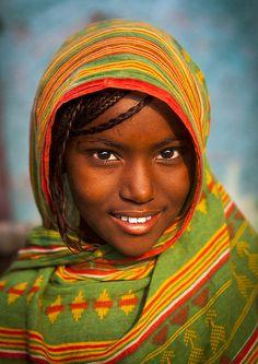Afar tribe girl, Assaita, Ethiopia