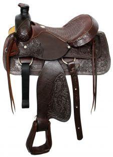 Acorn Tooled Saddle
