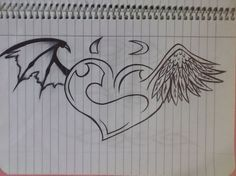 Angel and Satan Tattoo by Kat666Kat on deviantART. >> Discover more at the image link Learn more at  http://kat666kat.deviantart.com/art/Angel-and-Devil-Tattoo-333536474
