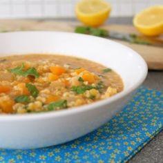 Lentil and bulgur soup