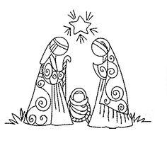 Christmas Nativity Scene, Noel Christmas, Christmas Signs, Christmas Colors, Christmas Projects, Hand Embroidery Patterns, Cross Stitch Embroidery, Nativity Painting, Nativity Crafts