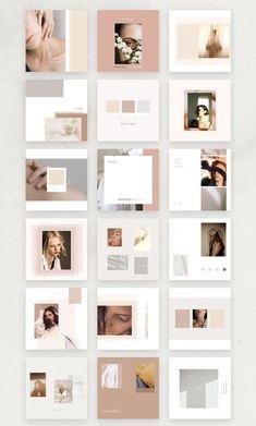Rose Mood Board Pack Simple P. #template #minimal #instagram #mood Id Card Design, Web Design, Layout Design, Instagram Feed Ideas Posts, Instagram Feed Layout, Mood Instagram, Instagram Design, Ideas Para Logos, Flyer