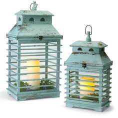Set of Two Shutter Lanterns
