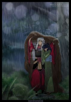 Sheltering her from the Rain by *FanasY on deviantART