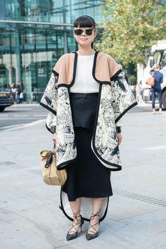 Street style at London Fashion Week Photo: Imaxtree