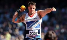 Aled Davies in action during the Men's Shot Put (F42/44) final at the Olympic Stadium.