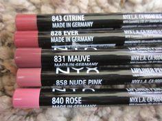 Nyx Lip Pencils 7