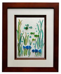 Sea Glass Fish by RachelDrakeStudio on Etsy