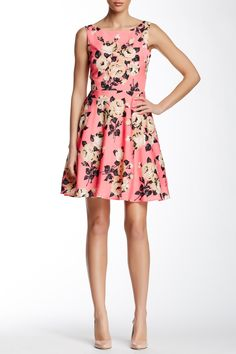 Betsey Johnson | Floral Printed Cutout Back Dress