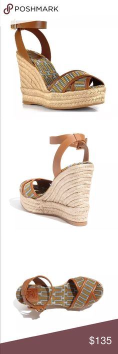 Tory Burch Florian Criss Cross Espadrille Wedge