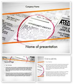 http://www.poweredtemplate.com/11639/0/index.html Opportunity Knocks PowerPoint Template