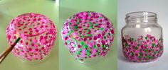 reciclar-tarros2 Mason Jar Projects, Mason Jar Crafts, Bottle Crafts, Baby Food Jar Crafts, Baby Food Jars, Easy Diy Crafts, Diy Craft Projects, Diy Aromatherapy Candles, Vase Crafts