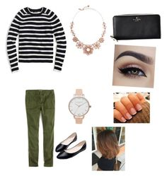 """""""Untitled #210"""" by livelovethelife on Polyvore featuring Kate Spade, J.Crew, Olivia Burton and Ask Alice"""