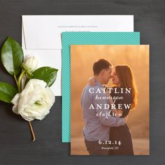 Timeless Letters Save The Date Cards by Olivia Raufman | Elli