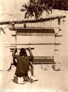 Hopi Woman Weaving, 1879 by Legends of America, via Flickr