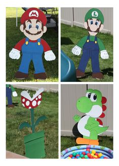 Daddy can totally make these!   Super Mario Birthday Party