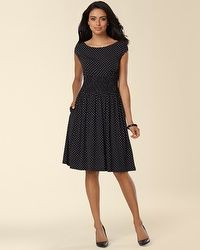 Ivy And Blu Fit And Flare Polka Dot Dress