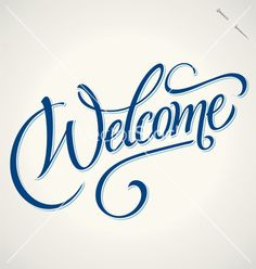 Welcome hand lettering vector 1488204 - by letterstock on VectorStock®