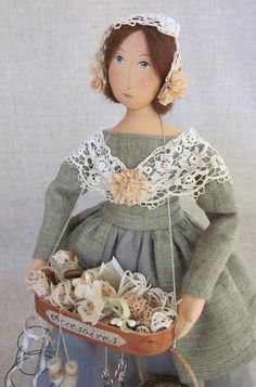 Evi 's Country Snippets folk art dolls