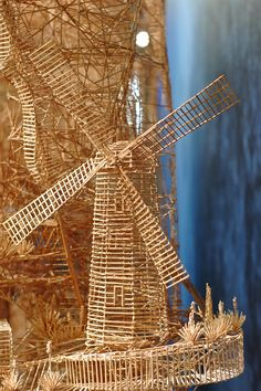 One man, 100,000 toothpicks, and 35 years: An incredible kinetic sculpture of San Francisco wood toothpicks sculpture San Francisco multiple...