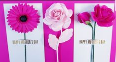 Paper Flowers Diy, Diy Paper, Paper Crafts, Happy Mother S Day, Bouquet, Greeting Cards, Etsy Shop, Templates, How To Make