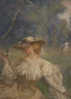 A Summer Afternoon, the Green Apple (detail) - Charles Conder