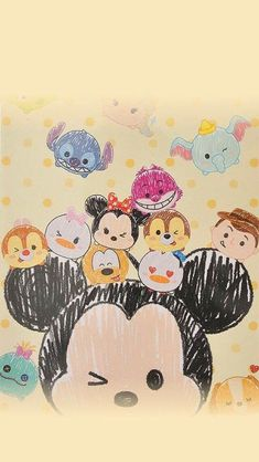Shared by Maryfer. Find images and videos about wallpaper, disney and tsum tsum on We Heart It - the app to get lost in what you love. Kawaii Disney, Disney Art, Cute Disney Drawings, Cute Drawings, Disney Phone Wallpaper, Wallpaper Iphone Cute, Tsum Tsum Wallpaper, Disney Background, Pinturas Disney