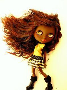 black blythe dools   Blythe dolls, sonny angels & cutes / Custom Black Blythe Commission ...