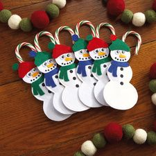 Snlowman Candy Cane Holders