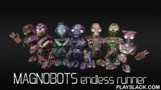 Magnobots: Endless Runner  Android Game - playslack.com , Control an amusing robot running through futuristic areas. assist the robot jump over holes and overcome hindrances. stride into the time in this game for Android. Your work is to govern the robot as far as feasible along the line. Control robot's speed. sedate down and speed it to go through the autoloading doors, dodge devices, or get onto moving platforms. Be mindful, if you miscalculate the speed, the robot will plummet into the…