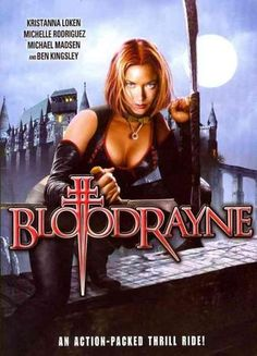 This action-horror film is set in ancient Romania and stars Kristianna Loken (TERMINATOR 3) as Rayne, a half-human/half-vampire sworn to kill her evil tyrant vampire father (Ben Kingsley). Michael Mad