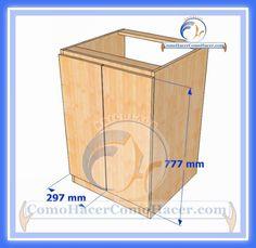 Muebles de Cocina Construcción Diy Cabinets, Magazine Rack, Toy Chest, Woodworking, Storage, Interior, Furniture, Mario, Home Decor